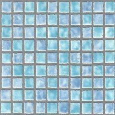 Whitewell Blue Mosaic Tile Kitchen Bathroom Contoured Vinyl Wallpaper W793312