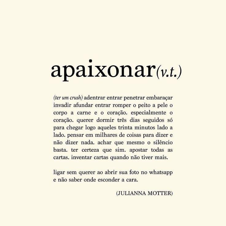 """""""... se apaixonar é assim mesmo, sem vírgulas e só pontos finais."""" #repost da participação especial que a Julianna Motter fez no projeto!"""