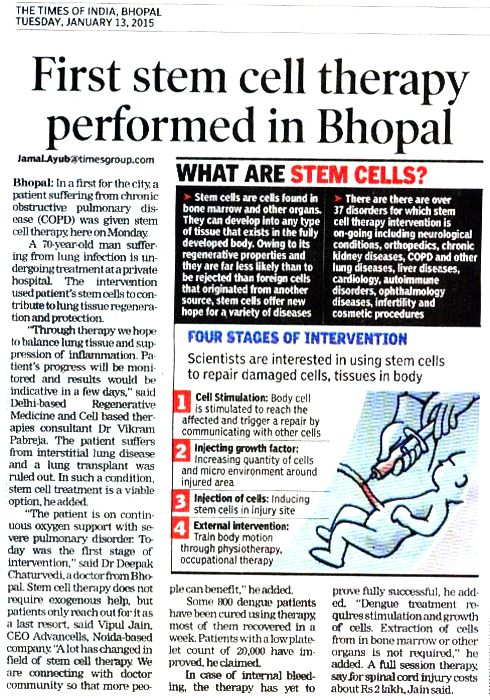 First-Stem-Cell-Therapy-Performed-in-Bhopal-12Jan2015