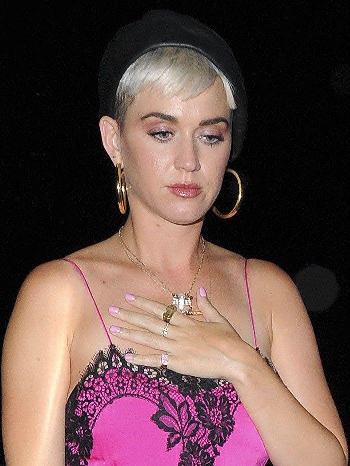 Katy Perry Dresses Like Selena Gomez in Pink Nightie and
