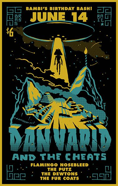 GigPosters.com - Dan Vapid And The Cheats - Flamingo Nosebleed - Putz, The - Dewtons, The - Fur Coats, The