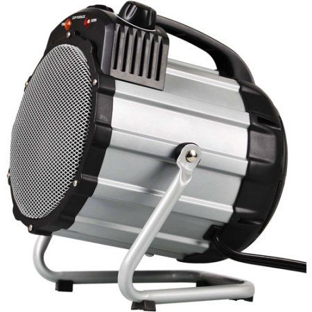 Optimus Electric Portable Utility/Shop Heater with Thermostat, HEOP7100, Gray