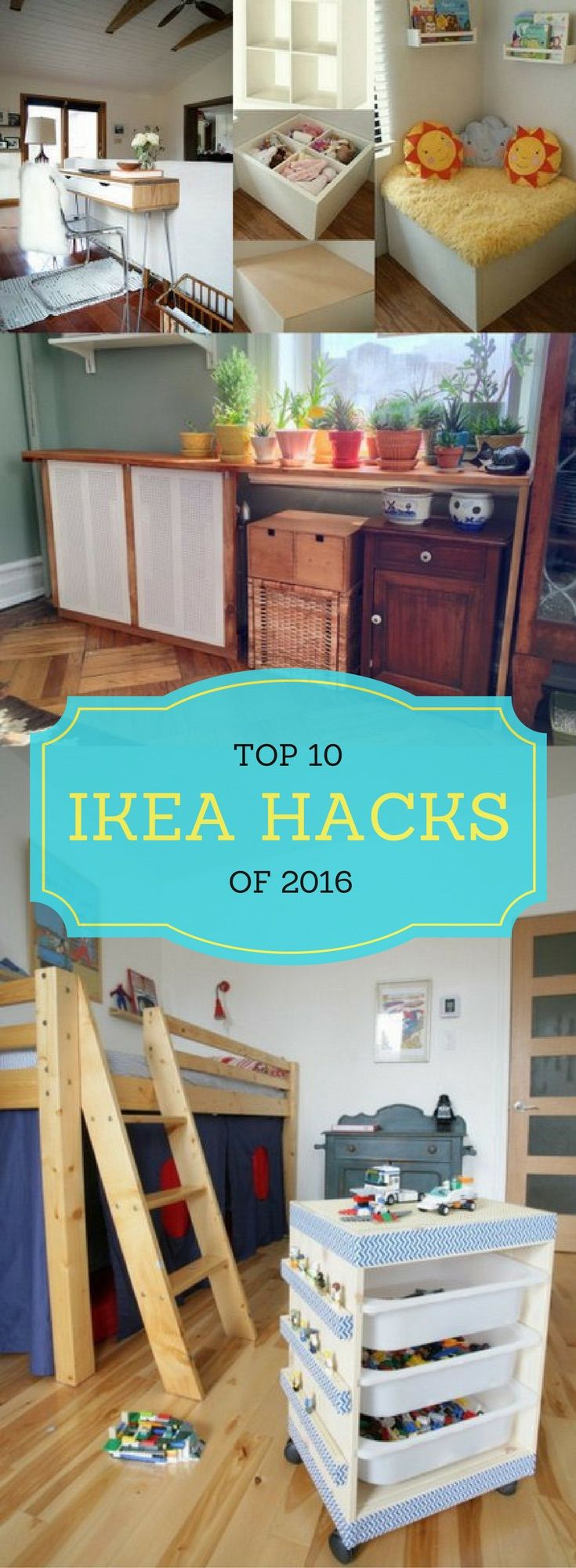 Get inspired! 10 of the best IKEA hacks of 2016 from IKEAhackers.net.