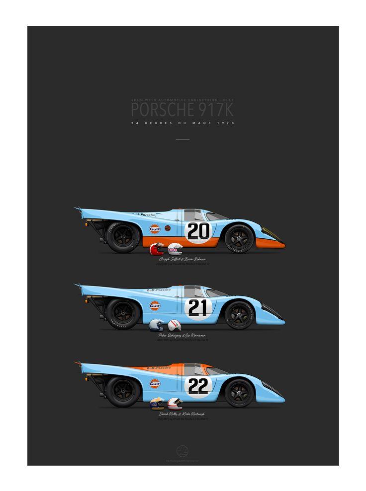 JWA-GULF PORSCHE 917K | Le Mans 1970