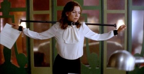 Secretary (2002) - Maggie Gyllenhaal as Lee Holloway, directed by Steven Shainberg.