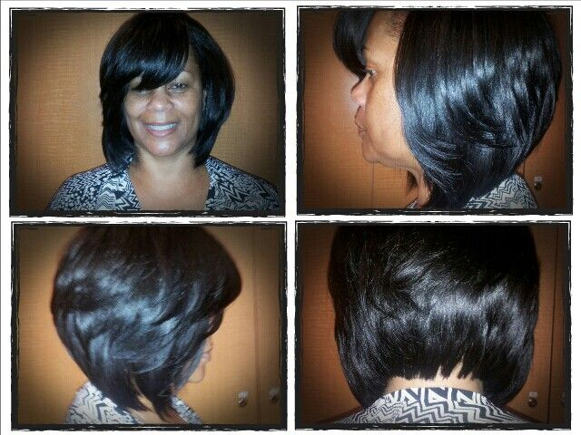sew in layered bob hairstyles : ... Hair that works Pinterest Bob Sew In, Layered Bobs and Sew Ins