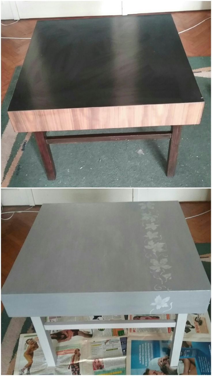 Chalk paint and stencil