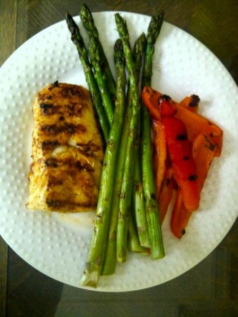 Wednesday Night Dinner - Spicy Grilled Talapia
