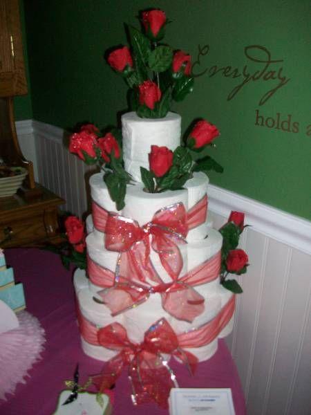 Bridal Shower Toilet paper cake