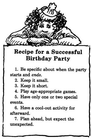 Birthday Parties for Children: Recipe for a Successful Birthday Party