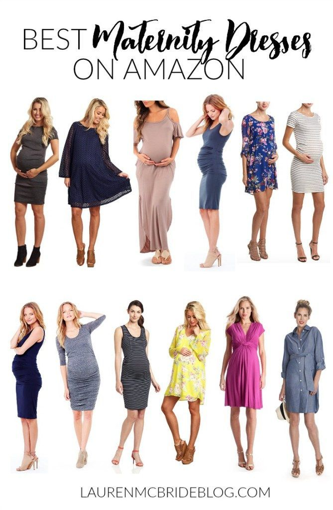The best maternity dresses on Amazon for expecting moms, featuring a number of versatile dresses and a variety of dresses through the seasons!