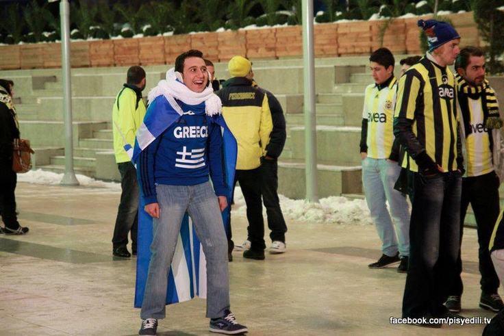 Orço, Panathinaikos maçındayken :)