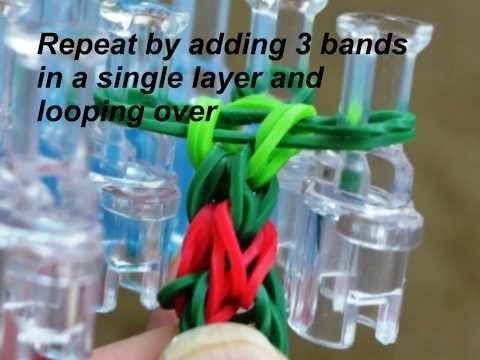 NEW Rainbow Loom 3 Pin Chain - different from fishtail! - YouTube