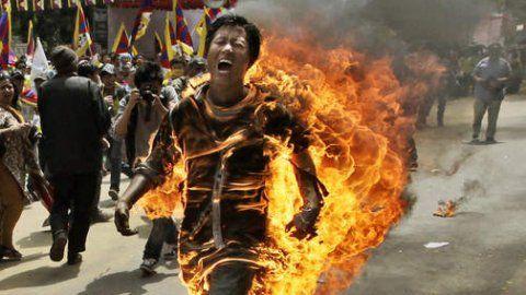 Tijdens de overval word david neergeslagen en gooien ze benzine over hem en steken hem in brand