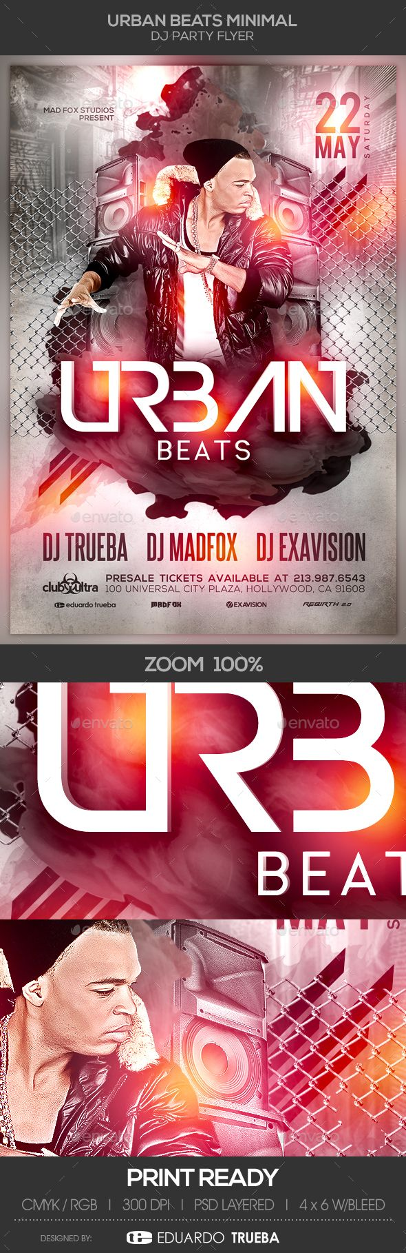 Urban Beats Minimal Dj Party #Flyer - Clubs & Parties Events