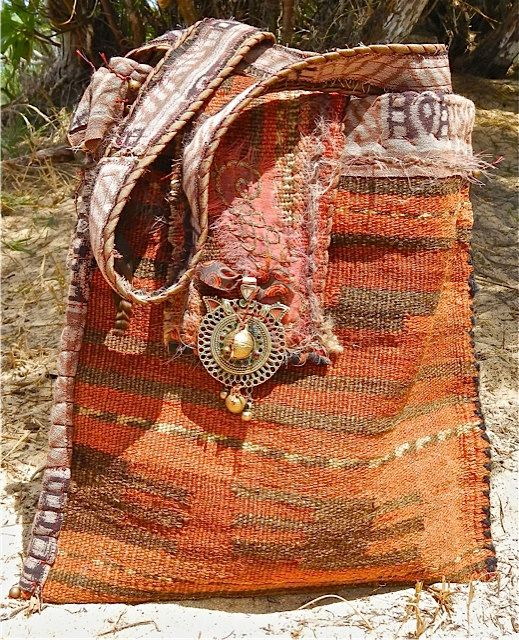 Carpetbag, one of a kind, vintage, Tribal