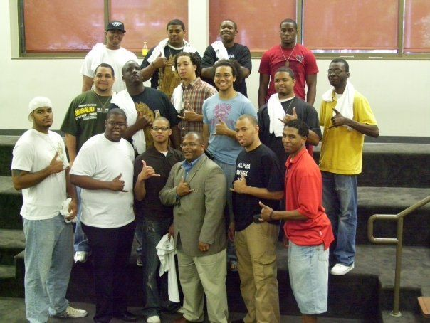 With my Alpha brothers at the Univ. of Louisiana - Lafayette, April 2009