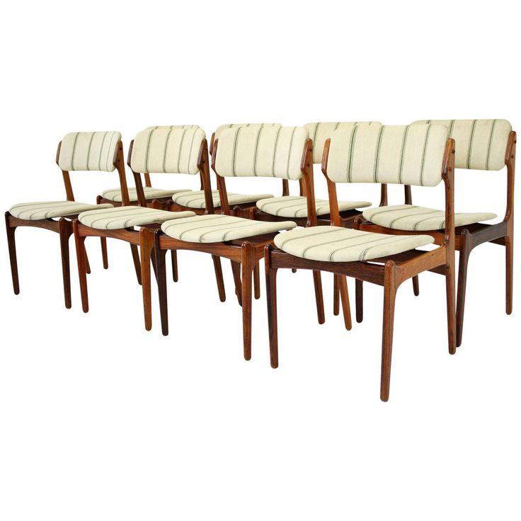 Danish Mid Century Modern Set of Eight Rosewood Chairs by Erik Buck  Modern Dining  Room  20 best vintage chairs images on Pinterest   Vintage chairs  . Rosewood Danish Dining Table And Chairs. Home Design Ideas