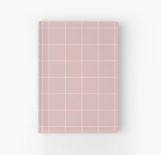 Pale Pink and White Grid Notebook Journal by PencilMeInStationery