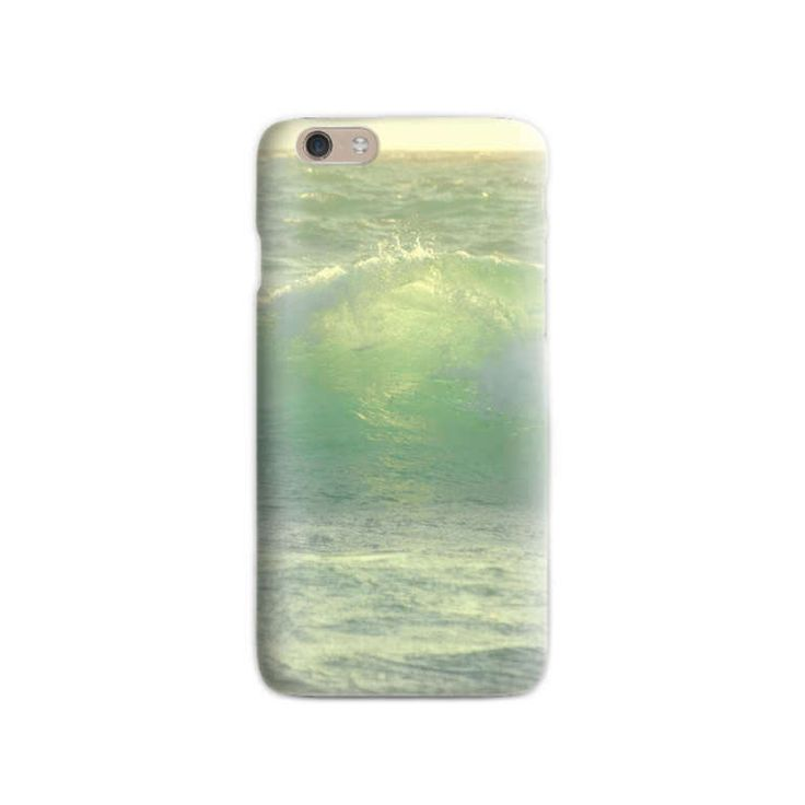 Wave iPhone 6 case Soft silicone Photo Print Ocean Love iPhone case Green iPhone case Gift for her for him iPhone 5 case Beach lovers gift by LightBlueCases on Etsy