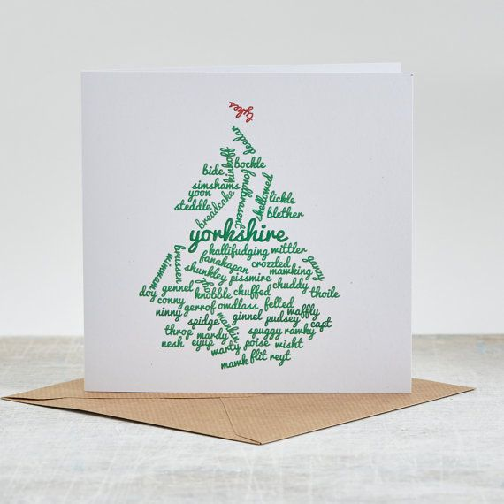 The 25+ best Yorkshire themed christmas present ideas on Pinterest - christmas card word