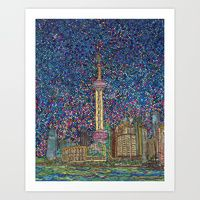 Art Print featuring City Nights and City Lights by Juliana Kroscen