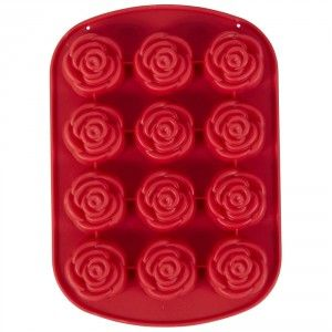 """Wilton Petite #Rose #Mould - #Silicone 12 cavities, each 1½""""Dia"""