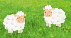 Um auch schon bei den Mini-Küsntlern den Spaß am Basteln zu wecken, haben wir - passend zu Ostern - ein echt Schafes Fensterbild. Speziell für kleine Hände.