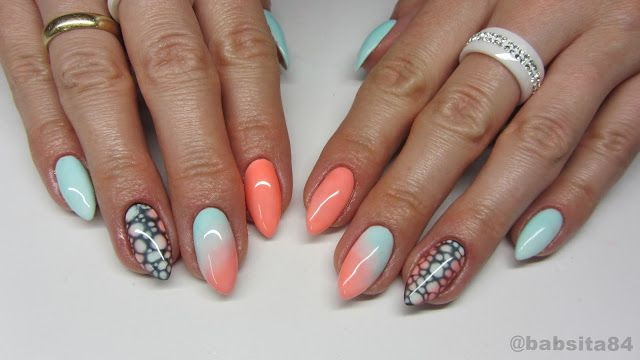 baseveheinails: Transparentny Gradient z Semilac - 101 Juicy Peach...