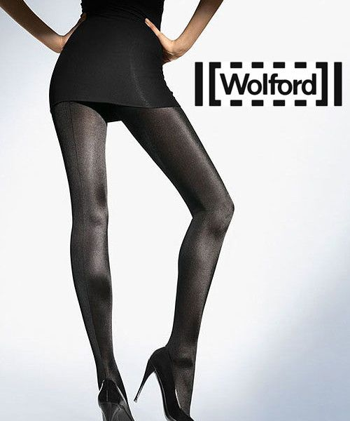 If you prefer opaque tights then these Wolford Satin de Luxe seamed opaque tights are perfect. With a glossy, shiny opaque leg and a very subtle backseam these are perfect seamed tights for those cold winter days