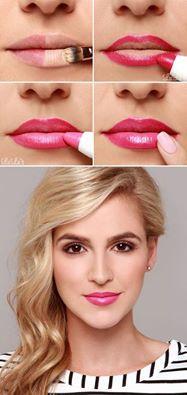 Jak upravit rty s pomocí make-upu a výraznější rtěnky. Jedna barva nestačí !!! MZZ