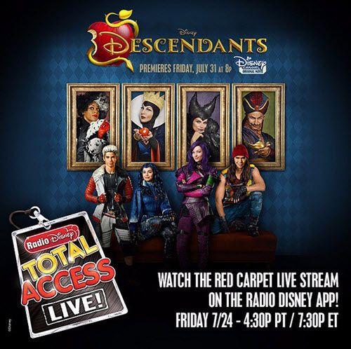 """Watch """"Descendants"""" Red Carpet Premiere July 24, 2015 - Dis411"""