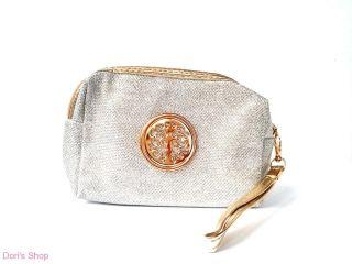 Ezüst-arany színű kézi táska