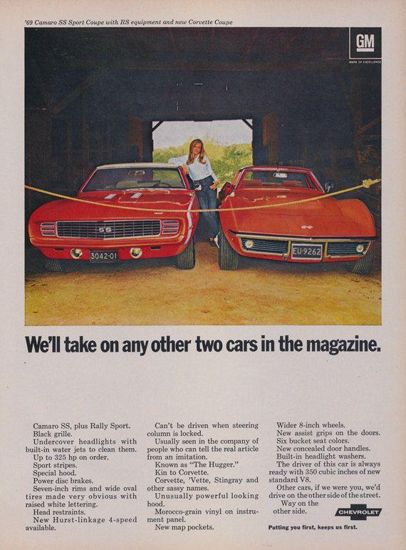 1969 Chevrolet Camaro Ss Amp Corvette Stingray Classic Cars
