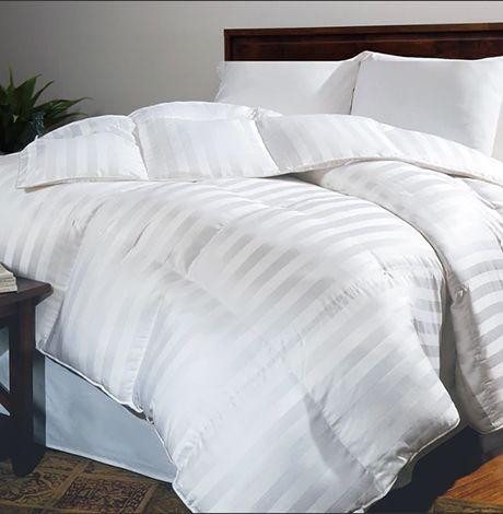 Oversized Siberian White Down Comforter photo