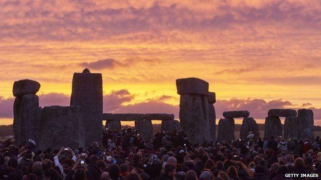 Summer Solstice June 21, 2015 celebrated on Stonehenge.
