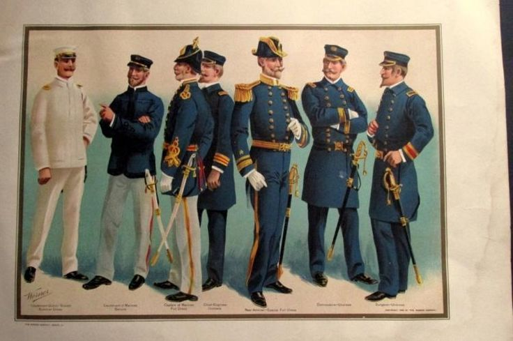US Navy Uniforms 1899 Officers