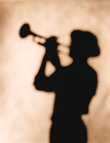 Shady Trumpet Player