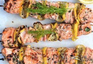Photo of Spicy Salmon Shish Kebab Recipe