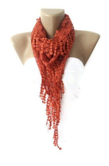 women scarf New bridal wedding lace scarf with lace by scarvesCHIC, $12.90