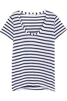 Splendid Venice striped jersey T-shirt   NET-A-PORTER