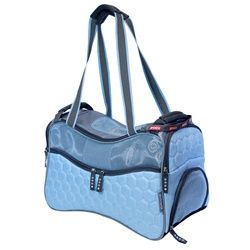 One stop shop for designer dog clothes and accessories - Teafco ARGO Petagon Airline Approved Carrier Maldives Blue Medium puppy Carriers - Canvas Style Carriers; for small big dogs pets & puppies.