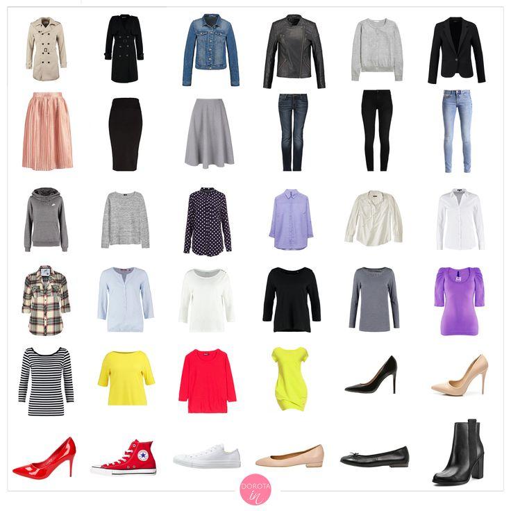 Garderoba kapsułowa na wiosnę - wiosenna szafa minimalna. Mój minimalny zestaw ubrań na wiosenny sezon. #moda #szafa #fashion #style #styl