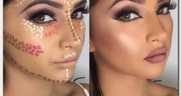 طريقة وضع الكونتور لجميع اشكال الوجه بالصور يعتبر الكونتور من أشهر التقنيات الحديثة لوضع المكياج على البشرة ويعتمد ال Halloween Face Makeup Face Makeup Makeup