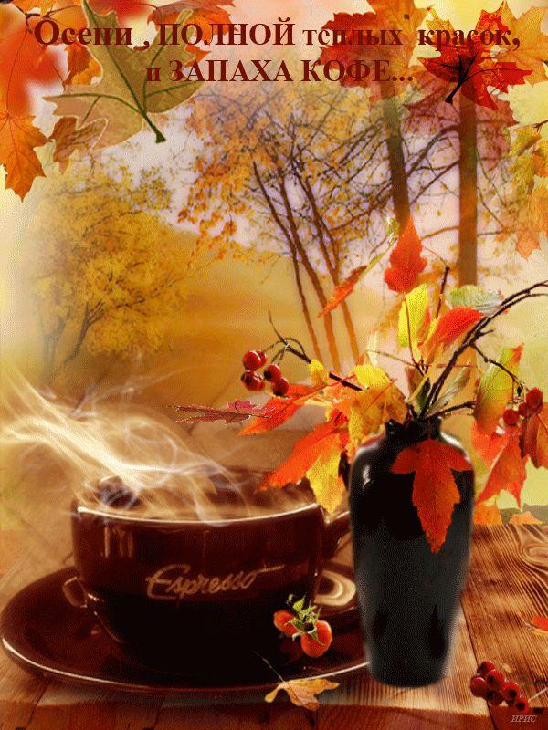 Открытки с добрым утром красивая осенняя природа