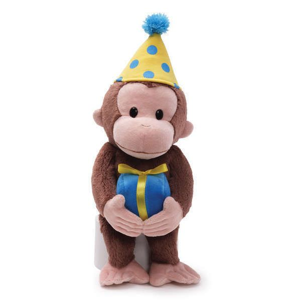 """Curious George Birthday 14"""" Monkey Plush Gift Toy # 4030390 Gund  #GUND"""