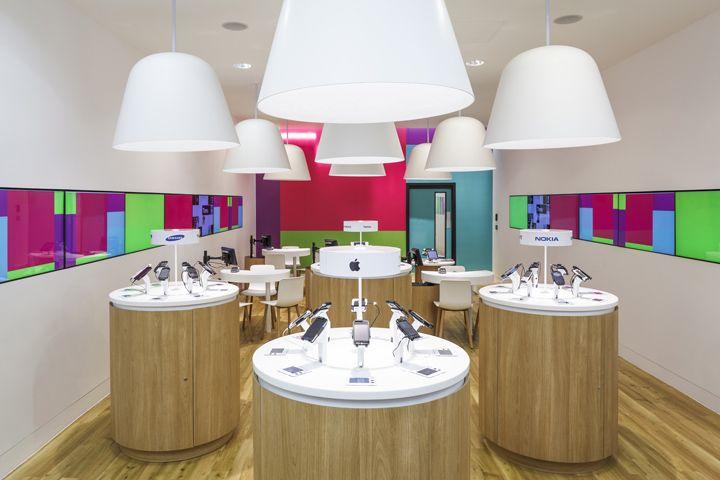 Phone Shop | Retail Design | Retail Display | Three Mobile stores by Urban Salon, UK store design