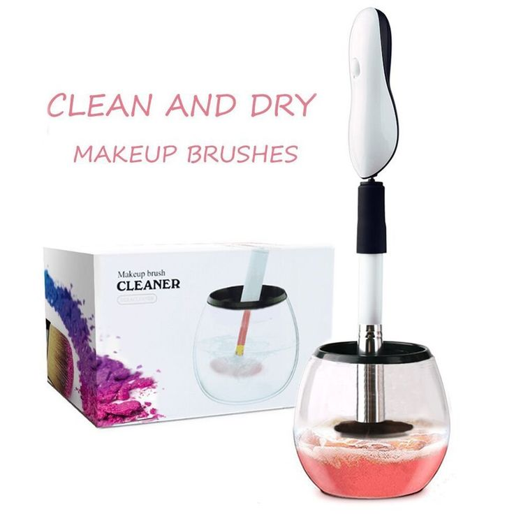 Brush Cleaner, Clean Makeup Brush – One Brush Cleaning Machine, Dry Makeup Brushes for Makeup Brush set in Seconds(Without Brush,White). ☀ User Friendly Cleaning Makeup Brush Tool -- Super easy to use. Choose the right size. Install makeup brush. Press the button to clean makeup brushes, and then dry makeup brush. ☀ Clean Cosmetic Brushes and Dry them in Seconds -- It's guaranteed to dry in seconds since the spinner owns 8000 revolutions per minute. We advise to dry the biggest one for a...