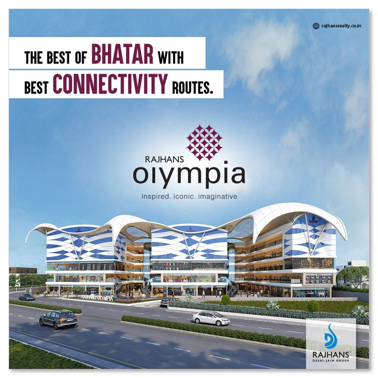 The best of Bhatar with best connectivity routes.  #RajhansOlympia #RajhansRealEstate #Surat