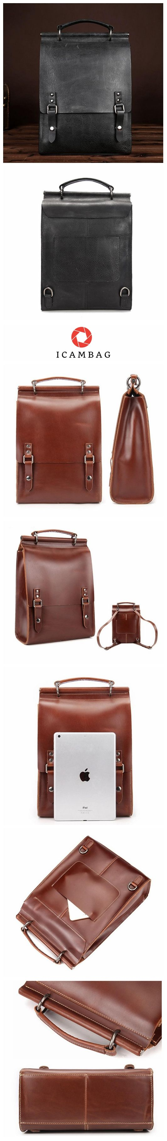Genuine Leather Neutral Backpack For Men BB1010